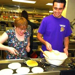 The BHS Key Club hosts the annual Kiwanis Pancake Breakfast in early May.