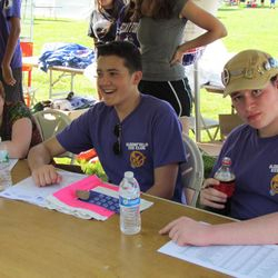 Bloomfield High School Key Club volunteers at the annual Relay For Life event at Brookdale Park running the admissions booth.