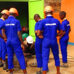 Welding lessons to students