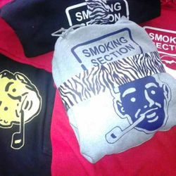 black zebra smoker section hoodies