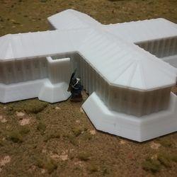 Cross Blockhouse (w removable top) 3D print