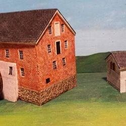 Marye's Mill & Innes House from Fredericksburg