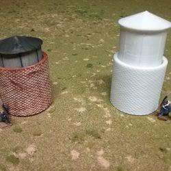 "Gas-o-meter ""Gas-holder"" (twist adjustable height) 3D print"