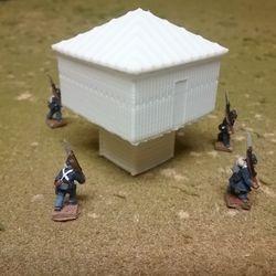 Raised Blockhouse 3D print
