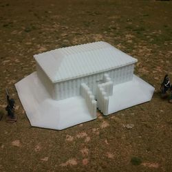 Rectangle Blockhouse 3D print