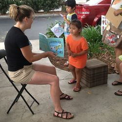 Reading children's book Crocky Dile to the children was so much fun!