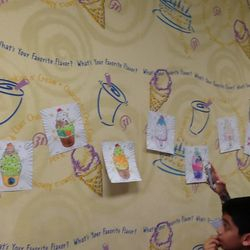 The coloring contest was wonderful. the children did such a fantastic job on their pictures. The pictures are displayed on the wall inside Baskin Robbins.