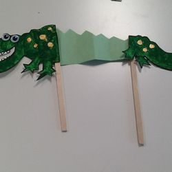 After the readin all of the children made their own Crocky Diles. These are some of my favorites.