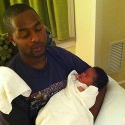 Daddy Holding Bishop 8/14/11
