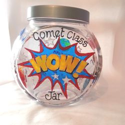 7 inch Large Cookie jar - Wow! design