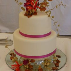 Cake by Edinburgh member, Annemarie McNamara, runner up in the Sugarcraft Category of the 2014 Scottish Baking Awards Final.