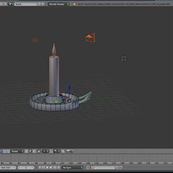 Leavana, Blender Candlestick work in progress