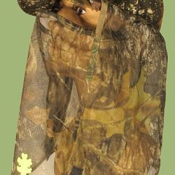 Camouflage facemask for hunting in warm weather