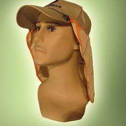 Sunshield cap attachment for sunshield attachment to cap