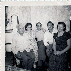 Frank Buccelli, Margaret Butchelle Gasper, John Gasper, Nicholas Butchelle and wife Janice Joanne Barber Butchelle