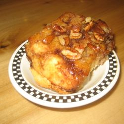 Homemade Cinnamon Biscuit with Caramel Pecan Topping