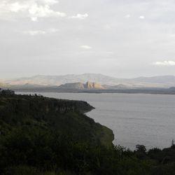 Lake Elmentaita on the Soysambu Conservency in Kenya.