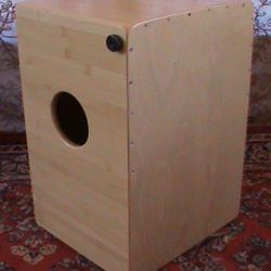 Bamboo Bass Snare Cajon. One of the only Eco friendly Cajons on the market.
