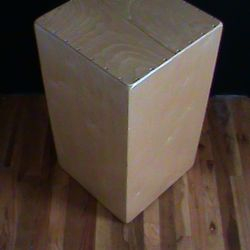 The Decajon, an upright cajon with ten distinct tones
