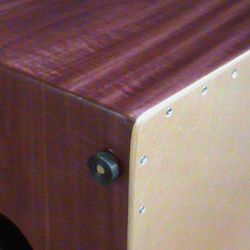 Purpleheart. This stunning wood is extra dense, and ideal cajon wood.