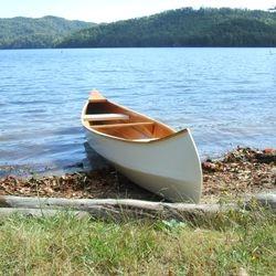 homebuilt Selfway/Fisher Wren 16' canoe; built 2008