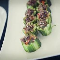 Thai beef cucumber cups