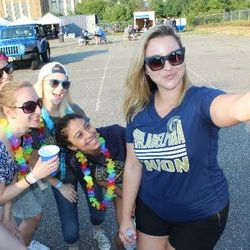 Philly PR Girl Team hanging out with the Phan Cave in the Sons of Ben lot before the Union soccer game!