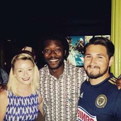 At the Sons of Ben Movie Premier with Philadelphia Union player, Michael Lahoud.