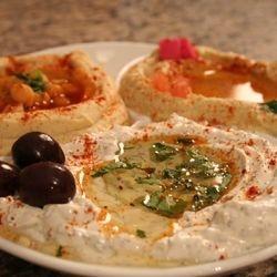 Mina Mezza Hummus, Baba Gahnosh and labney