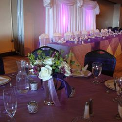 Use them behind the head table to cover areas that are distracting