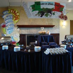 Food stations showcased New York areas and local specialties