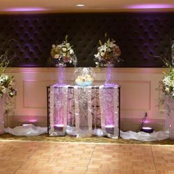 Add a focal point behind the dance floor!