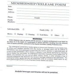 Membership form page 1