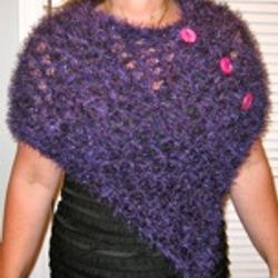 Purple Metallic Poncho