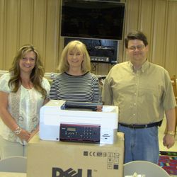 2 printers to Floyd County Public Library system.  We were allowed to meet there.
