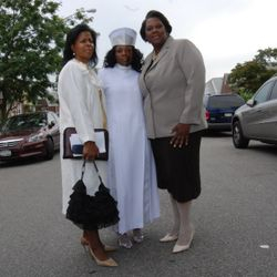 Pastor Karen Chamble, Apostle Asia Hurd and Deconness Tonjah George