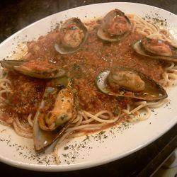 A mouth-watering Pasta and Mussels