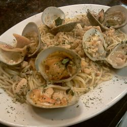 A Delicious Pasta with White Clam Sauce