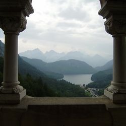 Doorkijkje vanuit Schloss Neuschwanstein