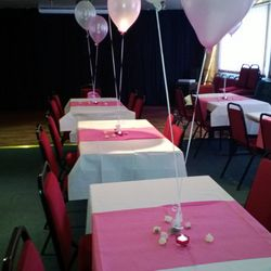 Darcy Lever Cricket Club function room set up for party