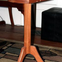 Mahogany candle stand with drawer