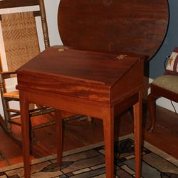 Mahogany Slat Top Desk