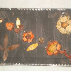 One of my crazy stuffs ever...A frame with nice scented aromatic figs and dried parts of the plants...