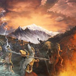 Ragnarök: A pagan version of the biblical Day of the LORD.