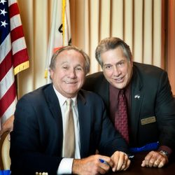 With Michael Reagan on Flag Day