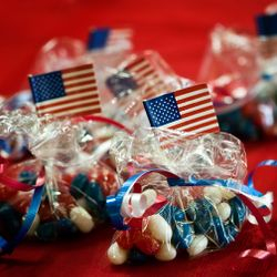 Flag Day with Ronald Reagan jelly beans.