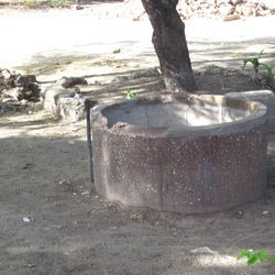 This well used to work, but when the Rotary Club made the sinks, the water supply was cut