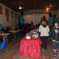 Our Annual Community pot luck Christmas Dinner