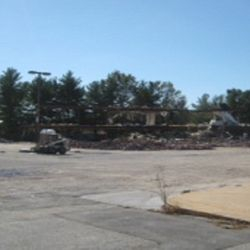Demolition of Carrolltown Center started in Fall 2013. The movie theater was the first building to be demolished.