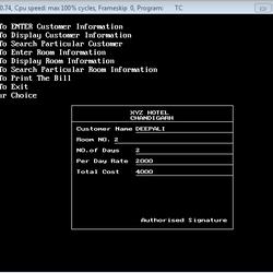 Hotel Billing System in C++